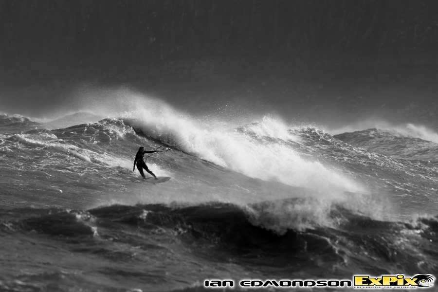 Wave session in Northumberland