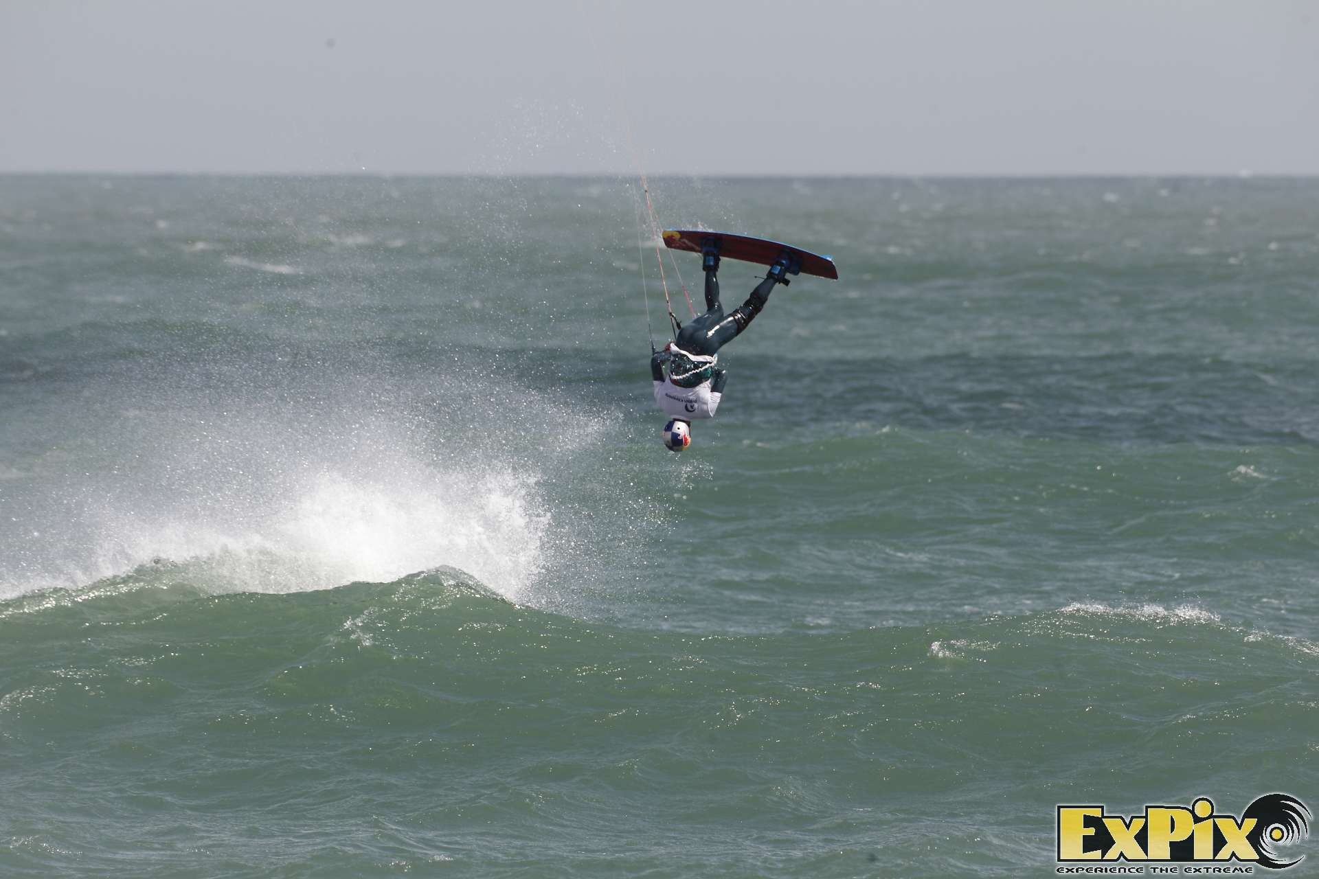 Tom Bridge off the wave British kitesurfing Championship