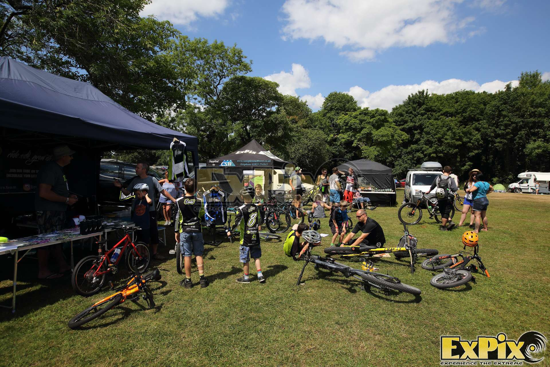 Havok Bike Park using ExPix Kite at Northern Grip MTB Festival